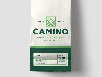 Camino Coffee Bag Pt. 2 green fairtrade organic collateral label packaging brand coffee