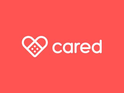 Cared pt. 3 application red trademark mark logo app health type bandaid heart