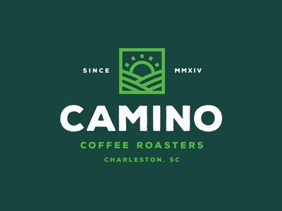Camino Coffee Roasters Lockup mark sun farm branding logo type lockup roaster coffee