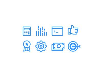 Fairview Icons job data award thumbsup arrow staffing search fairview icons