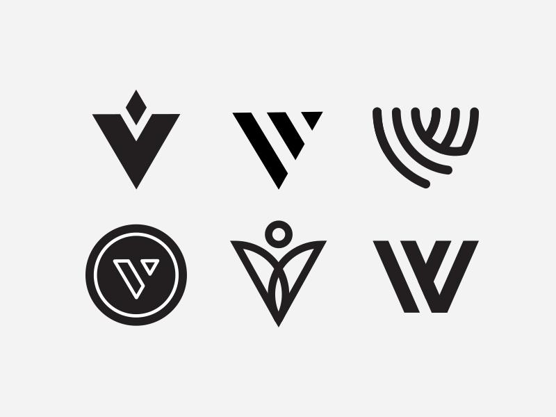 V Marks vitamin vital logomark typography mark logo type letter v