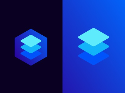 Cafeto Software Concept cube iso isometric layer data mark logo software