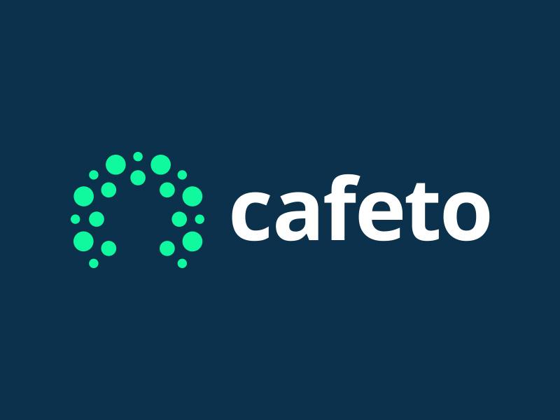 Cafeto pt. 1 movement flow dots type letter software data mark branding identity logo c