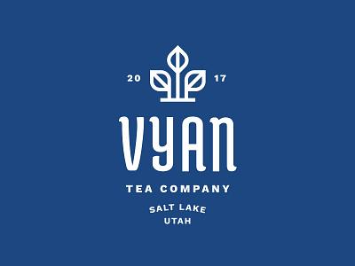 Vyan Lockup plant grow nature icon logo mark leaves leaf tea