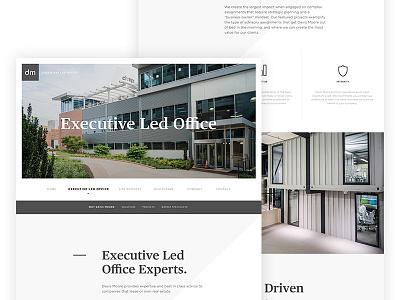 Executive Led Office realestate site web presentation newsite designer ui logos crop new website