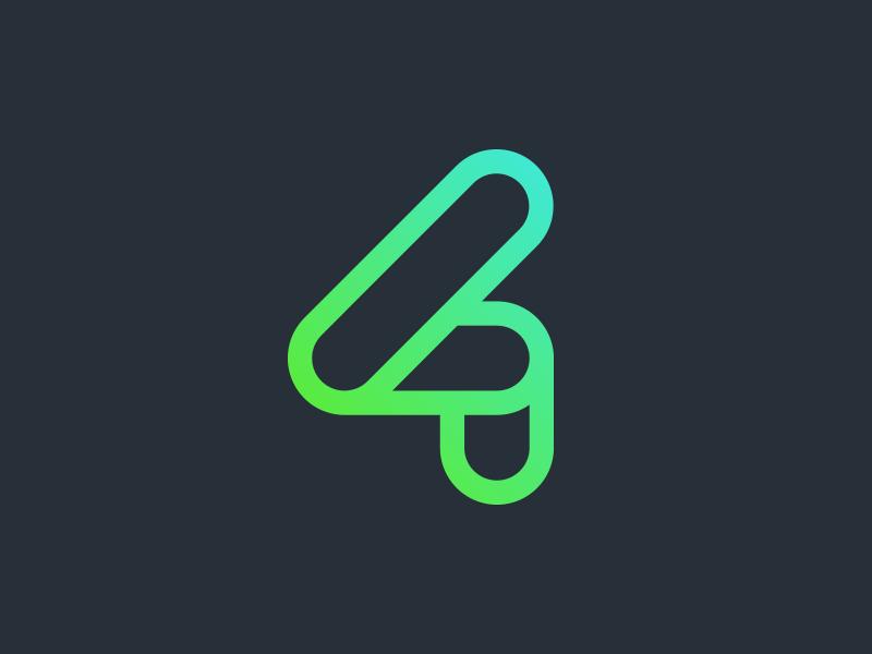 4tuna Mark gradient mark logo software management application app business robotics ai