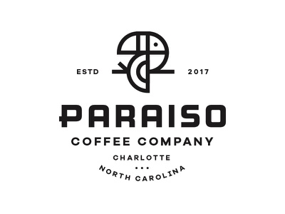 Paraiso Pt.2 identity branding bird logo mark paradise tropical p letter lockup coffee toucan