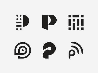 Passport exploration pt. 1 branding startup tech application app parking passport p mark logo letter