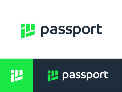 Passport Reject pt. 2 logo p data travel transit parking city brand branding blue app startup