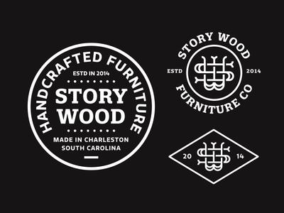 Story Wood Refresh pt. 3 type monogram w s sw handmade craft furniture wood storywood lockup