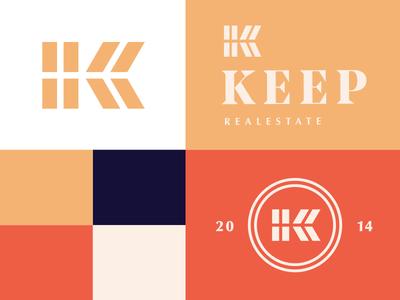 Keep Real Estate pt. 4 logo branding mark trademark castle keep k real estate