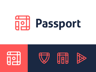 Passport Reject pt. 3 grid startup app branding brand city parking transit travel data p logo