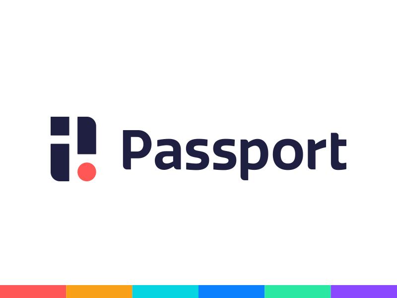 Passport Logo city app parking startup brand identity. tech branding logo design identity logo passport