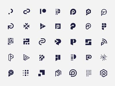 Passport Iterations passport data tech letter p identity branding brand icon mark logo