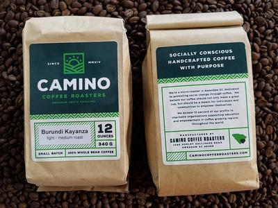 Camino Coffee Packaging branding brand logo coffee bag photo bag coffee packaging