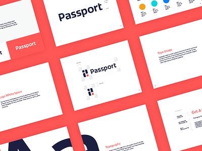 Passport Brand Guidelines letter p logo design branding logo app parking casestudy brand guidelines brand guidelines passport