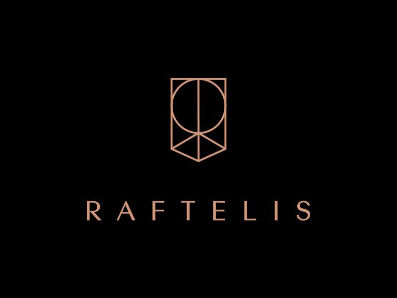 Raftelis pt.1 financial branding mark shield crest letter r consulting finance logo
