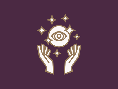The Illusionist illusion magic magician bar lounge cocktail hands magic ball logo identity brand