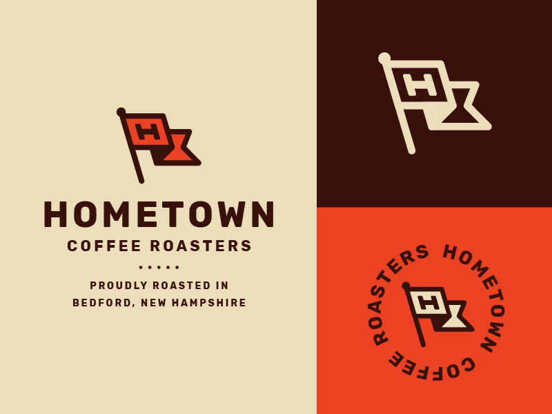 Hometown Coffee pt.2 hometown h flag identity coffee roaster packaging label brand logo roaster coffee