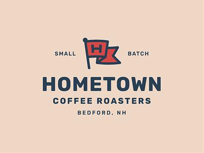 Hometown Coffee Final hometown h flag identity coffee roaster packaging label brand logo roaster coffee
