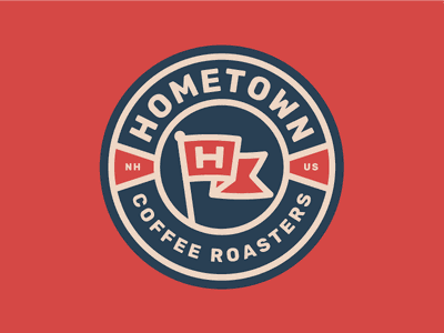 Hometown patch coffee packaging patch hat branding identity sticker packaging logo coffee badge
