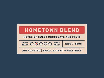 Hometown Labels lockup roast sticker hometown logo branding packaging coffee coffee bag coffee label label