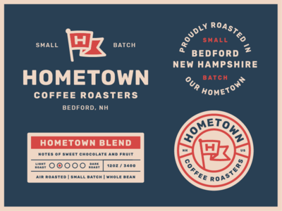 Hometown Packaging pt. 1 label badge logo coffee packaging. branding coffee bag coffee label coffee packaging
