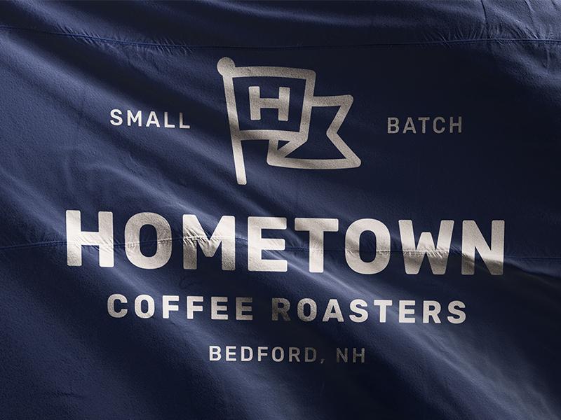 Hometown Flag packaging type h roaster coffee branding brand logo hometown flag