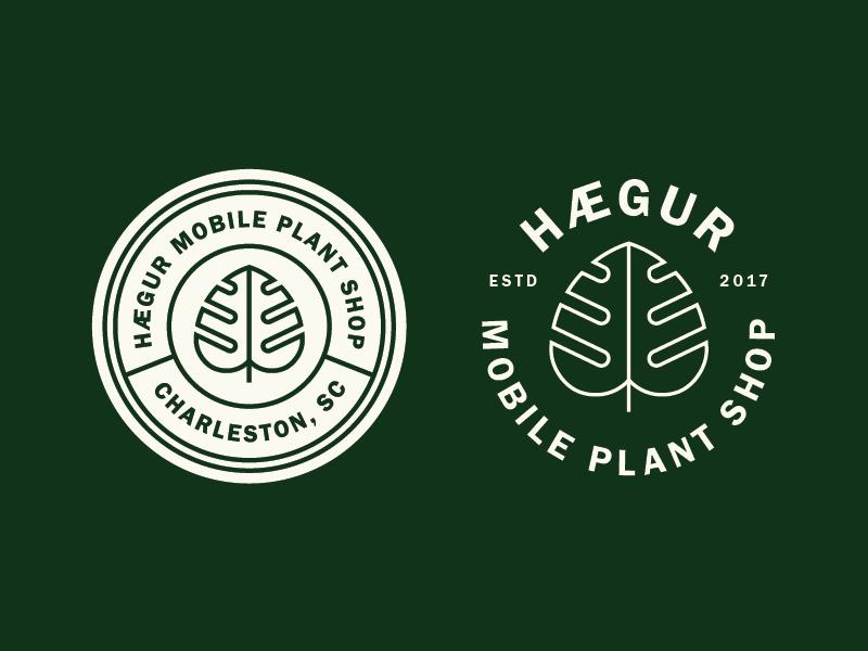 Hægur pt. 1 flower leaf nature logo design logo branding brand plant truck truck plant