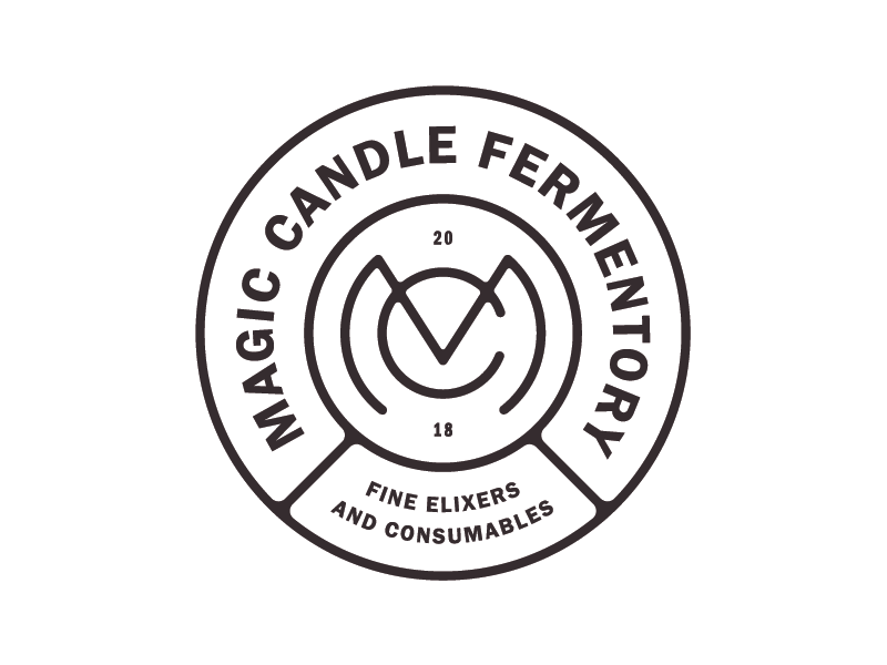 Magic Candle pt. 2 lockup packaging branding logo brew alcohol fermenting mead label badge