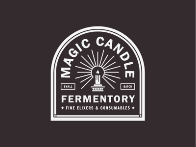 Magic Candle pt. 3 lockup logo badge label alcohol mead fermentory candle magic packaging