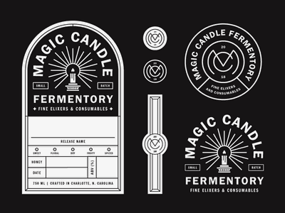 Magic Candle Labels label bottle mead brewing magic beer packaging logo brand branding