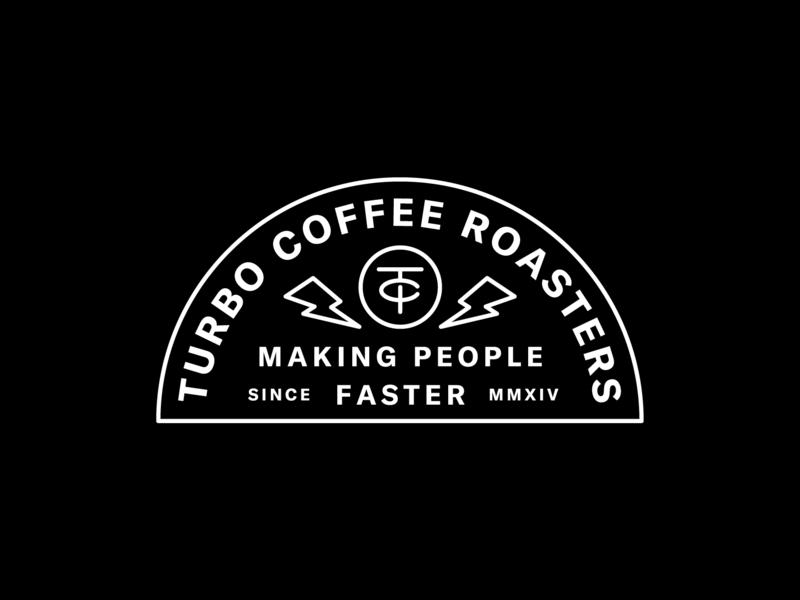 Turbo Coffee pt. 2 lockup lightning bolt coffee lightning monogram brand branding identity badge logo