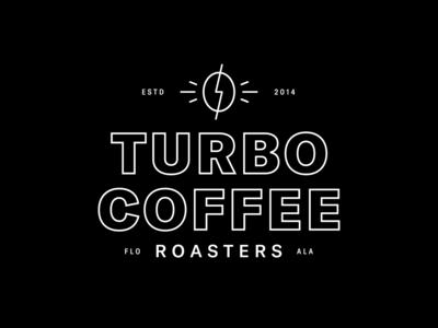 Turbo Coffee pt. 3 lightning turbo coffee turbo identity coffee lockup brand trademark mark branding logo