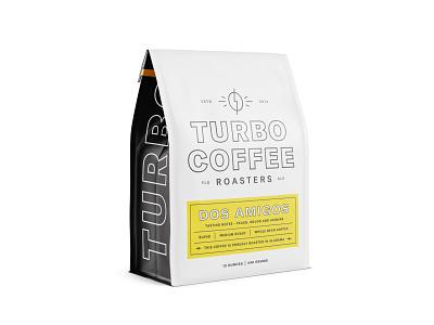 Turbo Bag lockup typography logo branding brand label bag packaging mockup coffee roaster coffee turbo turbo coffee