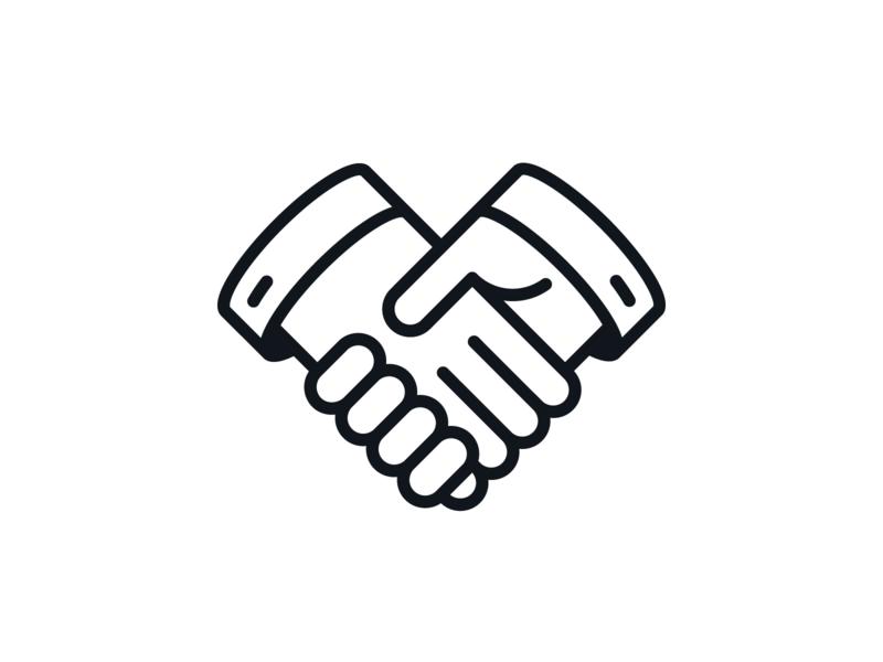 Handshake Icon mark illustration iconography hands handshake hand icon