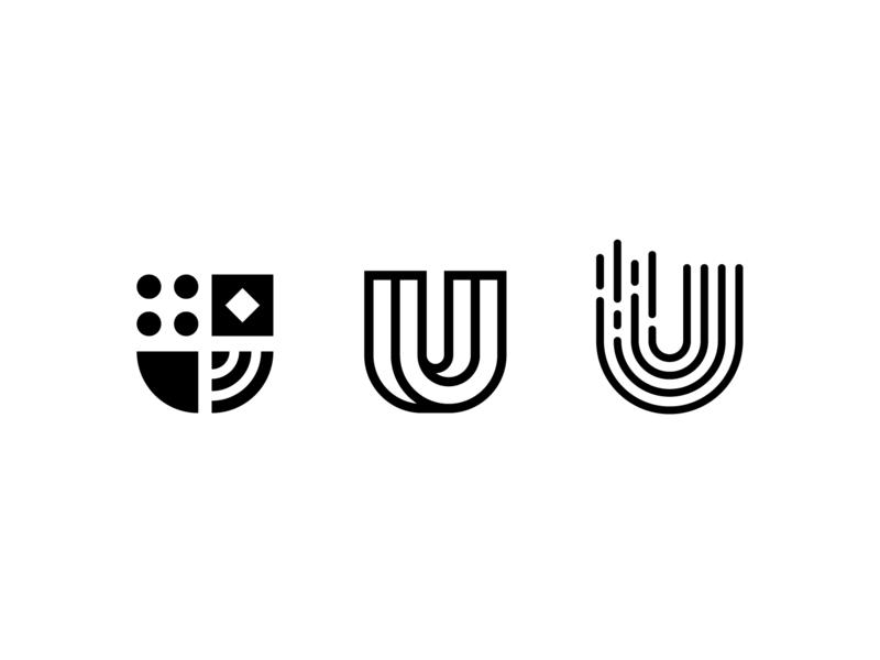 U marks brand identity branding brand tech data logomark mark logo letter u u logo