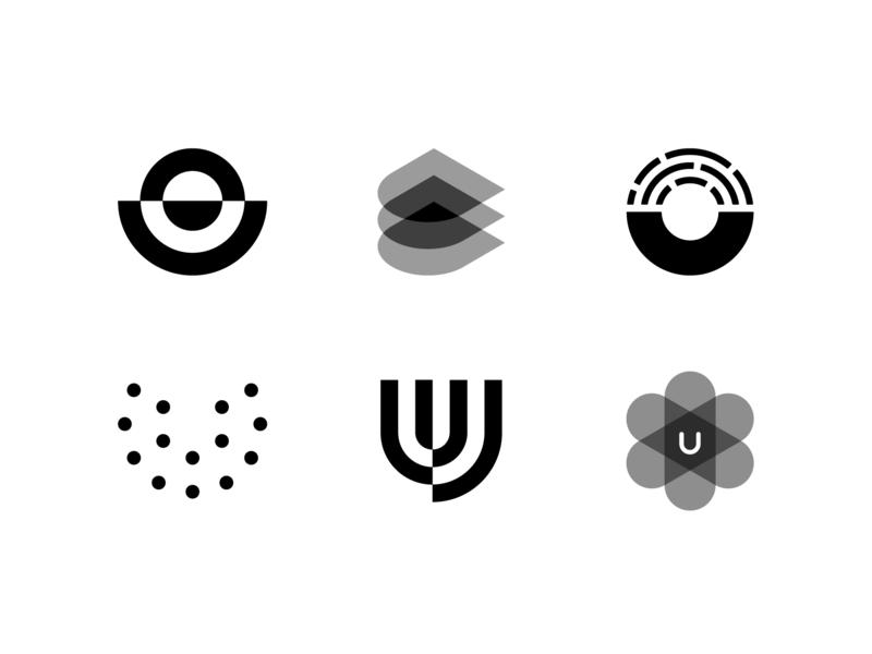 U marks pt. 2 letter mark type tech u letter design identity brand branding mark logo
