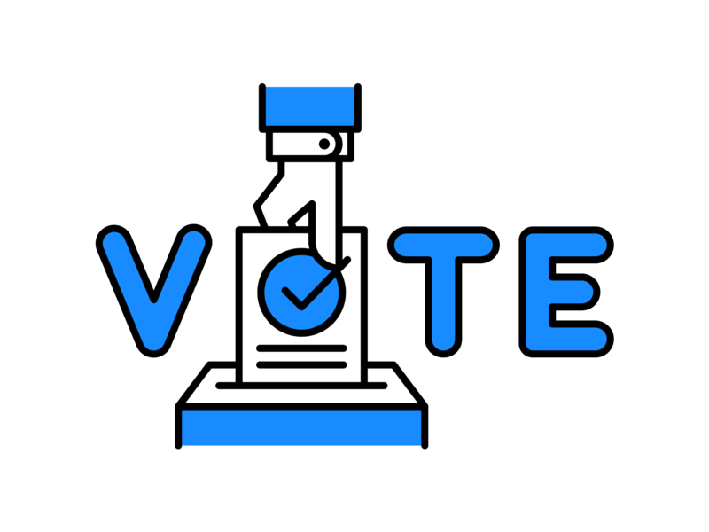 Please Vote voting ballot hand icon illustration vote