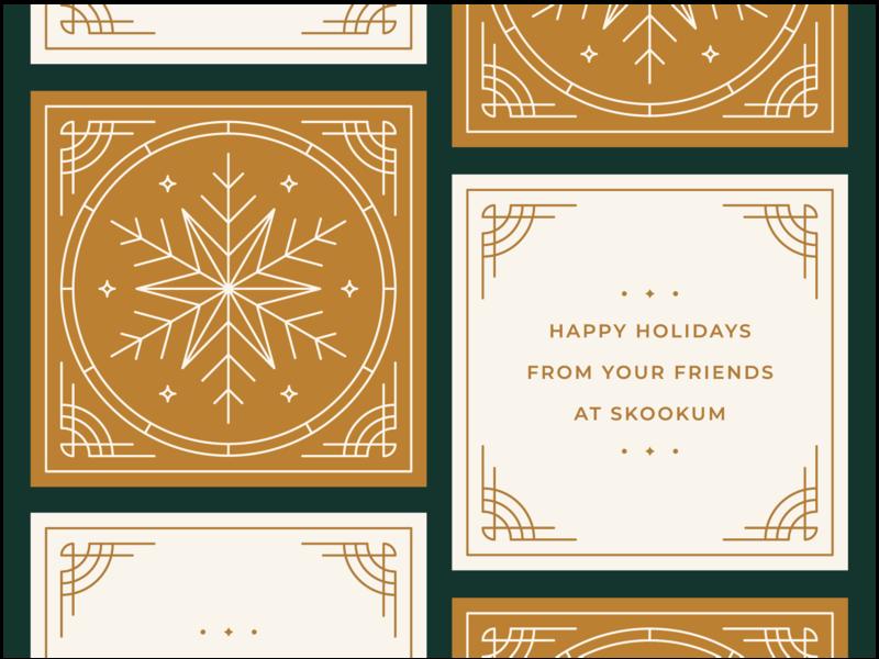 Skookum Holiday Cards 2018 card print snowflake christmas card christmas holiday card holiday