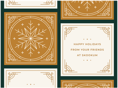 Skookum Holiday Cards 2018 card print snowflake christmas card christmas holiday card holiday
