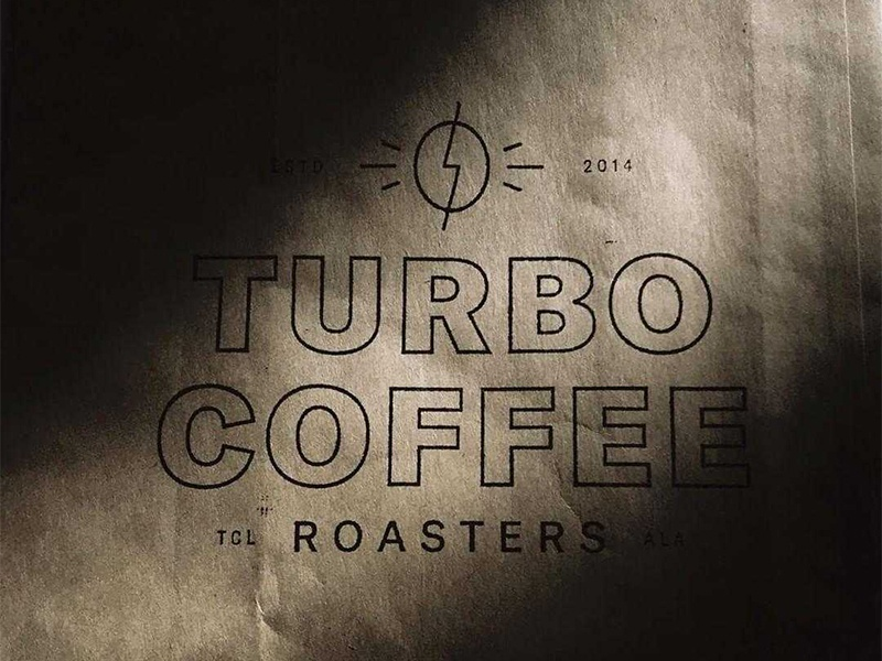 Turbo Coffee Stamp brand identity branding logo packaging coffee bag coffee bean lightning bolt coffee turbo coffee