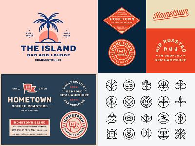Twenty Eighteen identity trademark coffee lockup brand branding logo year in review 2018