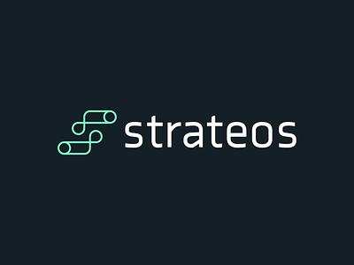 Strateos Logo logo design logos biotech robotics tech logo