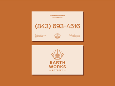 Earthworks Business Cards ceramics pottery logo branding brand stationary business card