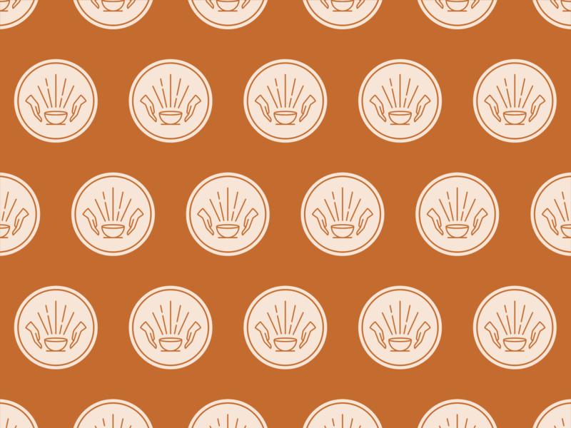 Earthworks Pattern ceramics pottery pot logo pattern