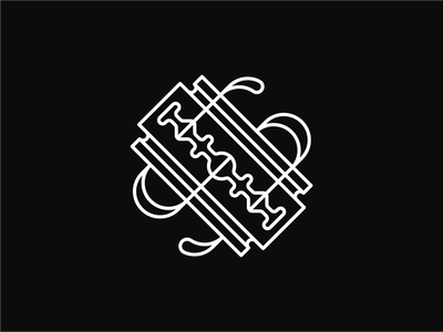 SBCo. Logo branding monogram logos razorblade razor logo