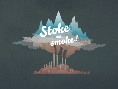 Stoke illustration mountains pollution cursive