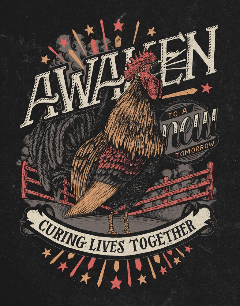 Awaken rooster 4color large