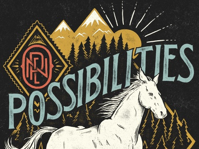 Open Possibilities illustration pen and ink typography sevenly